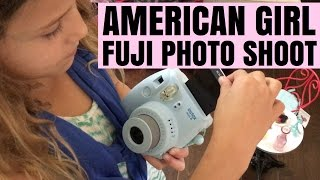 2016 Girl Of The Year Lea Clark's Photo Shoot With Fuji Instax 8 Camera - American Girl Doll