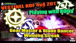 Dragon Nest PvP - Lv 93 Vestinel PvP KOF Gear Master & Blade Dancer Winning Streak #Awakening