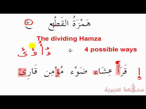 Lesson 13:   Hamzatul Qat'