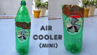 How to Make an Air Cooler at Home : Mini & Portable Air Cooler using plastic bottle