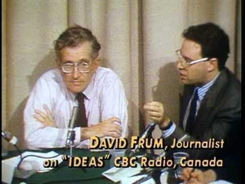 Neocon David Frum Schooled By Noam Chomsky On Moral Analysis