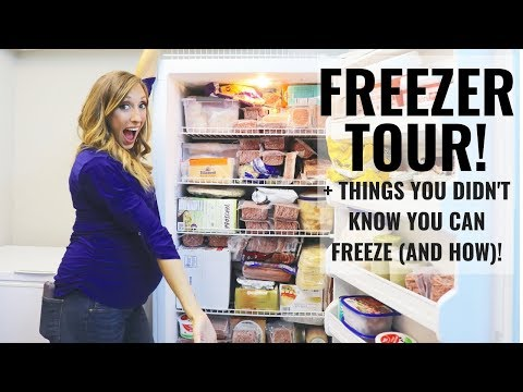 Freezer tour! + Things you didnt know you can freeze | FREEZING TIPS!