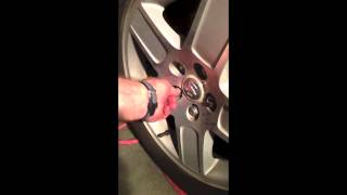Overtightened lug nuts
