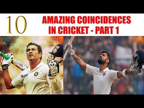 Top 10 - Amazing Coincidences in Cricket - Part 1