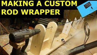 Making  a custom fishing rod power wrapper from a cordless drill