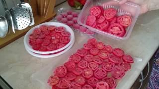 Заготовка ПОМИДОРОВ на ЗИМУ// 2 СПОСОБА заморозки//. Preparation of tomatoes.
