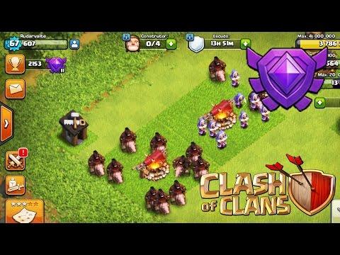 CV7 Chegando a Liga Cristal :D Gemas Gratis | Clash of Clans