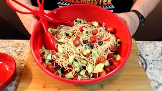 Italian Spaghetti Pasta Salad!  (Delicious Chilled)