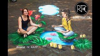 3D Street Painting by Rianne te Kaat