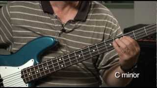 Bass For Jazz: Lesson 20, Minor Scale Walking Pattern