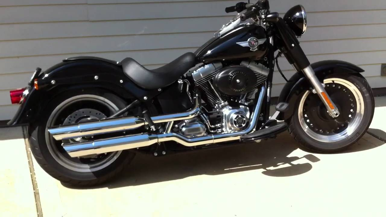 Harley Fatboy Exhaust Pipes - Acpfoto