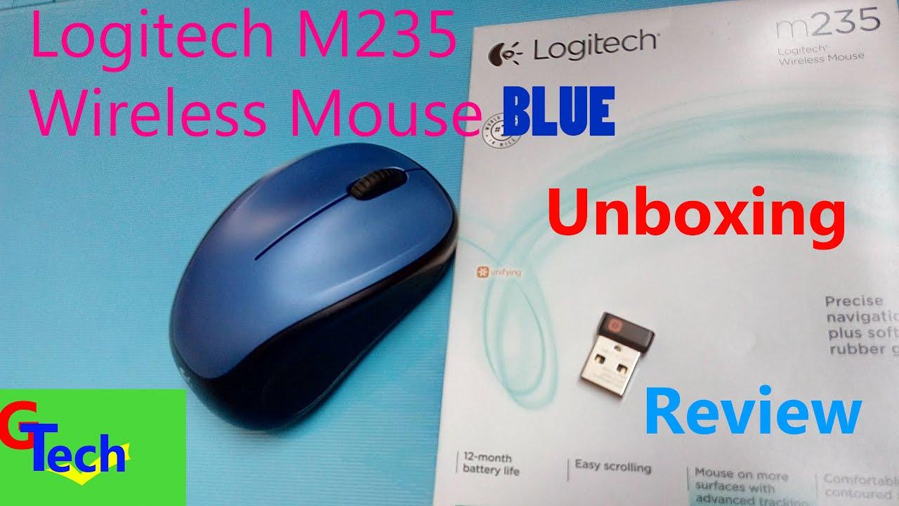 Logitech wireless mouse M235 Blue | unboxing | Review