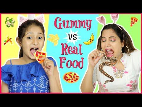gummy-vs-real-food-switchup-challenge-|-#shrutiarjunanand-#fun-#kids