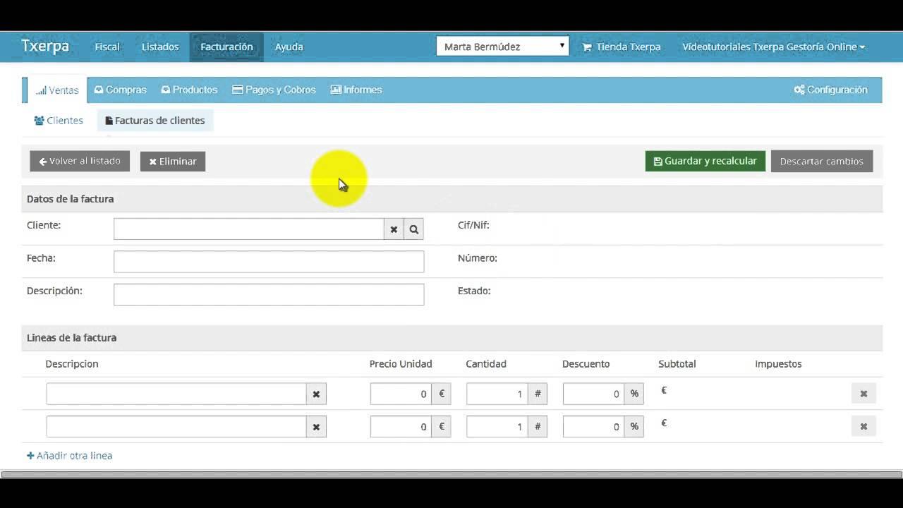 software facturación online txerpa autónomos youtube