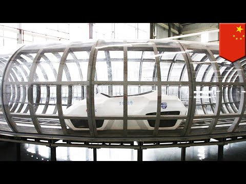 World's first super maglev train could reach speeds of 1,000 kph, being tested in China - TomoNews