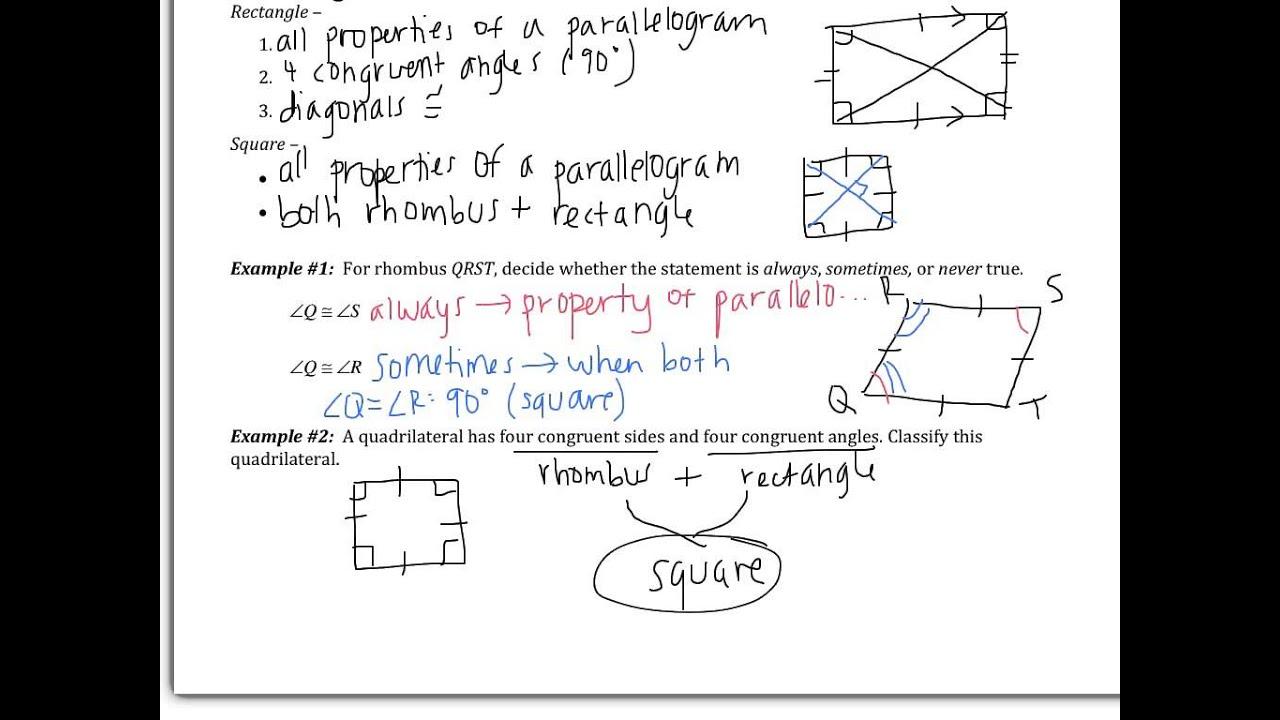 Quadrilaterals Assessment