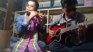 Chakma song || playing  Flute & Guitar || 2017