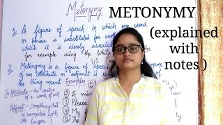 Metonymy - A figure of speech || explained in hindi with examples ||