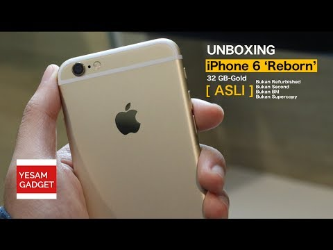 IPHONE 6 JUTAAN? [Unboxing iPhone 6 'Reborn' 32 GB-Gold Indonesia]