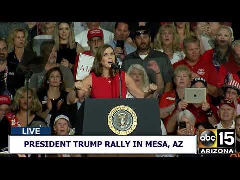 FULL RAW: Martha McSally's fiery speech at President Trump's Make America Great Again Rally in AZ