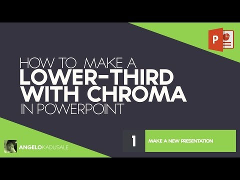 How to Make a Lower Third (Text Overlay Graphic) for Camtasia in PowerPoint
