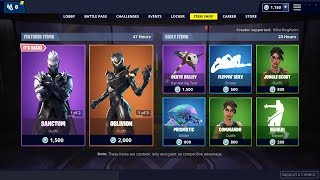 SANCTUM, OBLIVION, CRITERION SKIN: Fortnite Item Shop