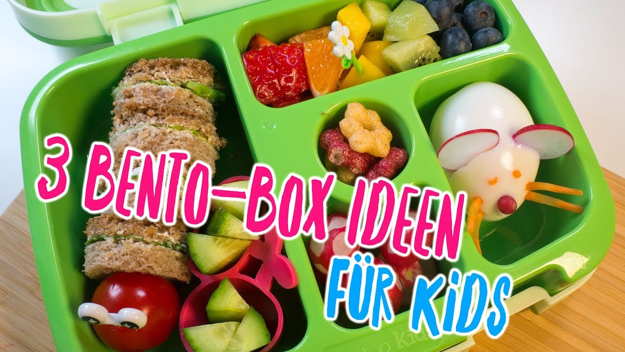 3 tolle bento box ideen f r kids fr hst ck und snacks f r kinder f r kita oder schule youtube. Black Bedroom Furniture Sets. Home Design Ideas
