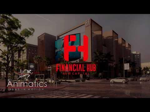 financial hub new capital 3D animation