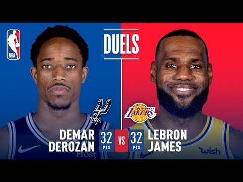 SPURSWATCH - DeMar DeRozan and LeBron James Duel It Out