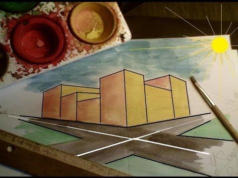 Comment dessiner en perspective 7 20 rues et magasins en - Comment dessiner un meuble en perspective ...