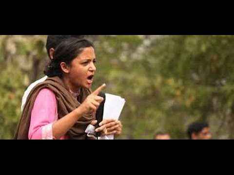 JNUSU Vice President Shehla Rashid  Burning Speech after Arrest of Kanhaiya Kumar