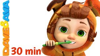 👍 Nursery Rhymes Collection: Brush Your Teeth | Healthy Habits Songs | Kids Songs from Dave and Ava👍