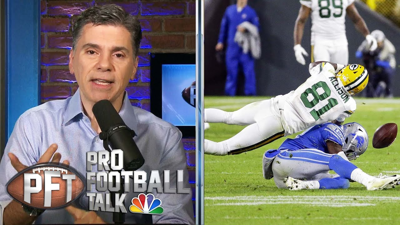 More NFL officiating problems arise in Lions' loss to Packers | Pro Football Talk | NBC Sports