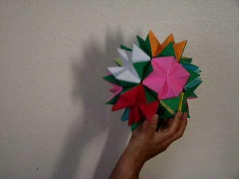 Revealed flower origami youtube revealed flower origami mightylinksfo