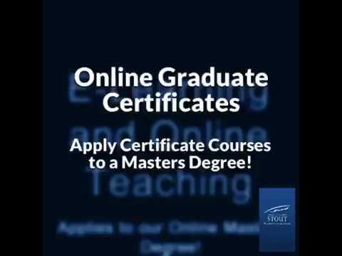 UW-Stout Online Graduate Certificates