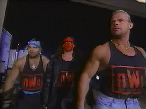 nWo Wolfpac vs. nWo Hollywood backstage WAR [Nitro - 5th October 1998]
