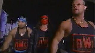 nWo Wolfpac vs. nWo Hollywood backstage WAR [Nitro - 5th October 1998]