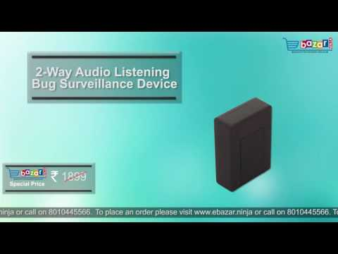 2 Way Audio Listening Bug Surveillance Device GSM