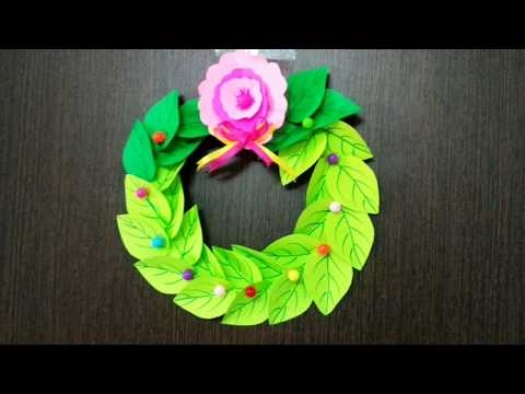 Paper Christmas wreath making tutorial | Christmas decoration ideas thumbnail