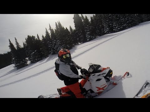 Snowmobiling in the Big Horn Mountains