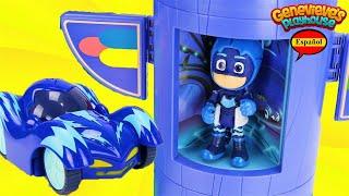 ¡El mejor video de aprendizaje de juguetes para niños con PJ Masks Rev n 'Rumbler Race Cars!