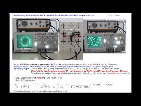 L und C Messung mit dem Oszilloskop (vereinfacht)