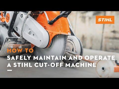 Cut-Off Machine Safety, Maintenance and Operation