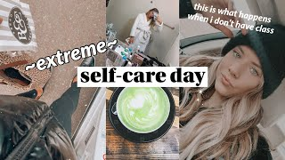 VLOG: extreme self-care day, fave matcha, + new clothes!