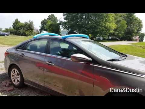 Transporting two Kayaks