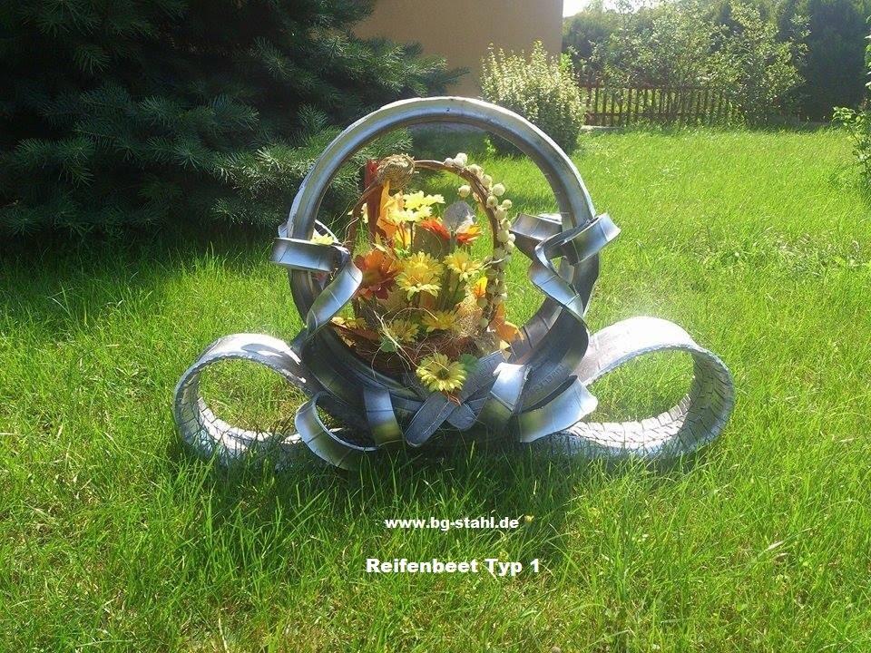 Alte autoreifen deko  Reifen-Blumenbeet - YouTube