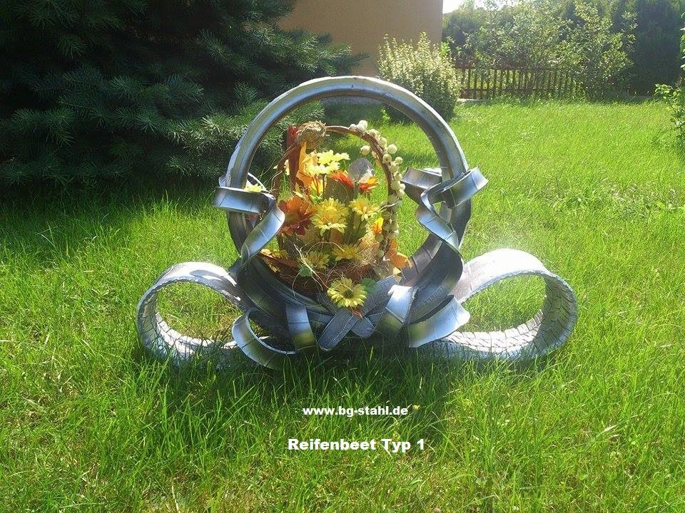 Reifen-Blumenbeet - YouTube