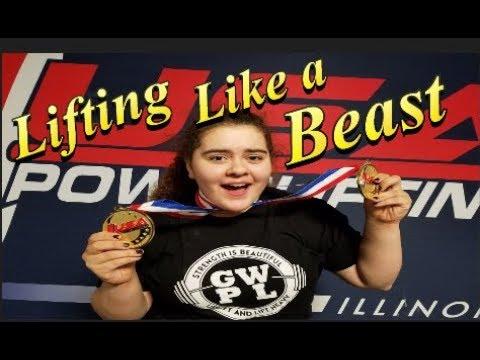 Powerlifting 15 year old girl || Beast of the MetroEast