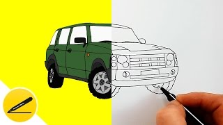 How to Draw a Car - Range Rover ★