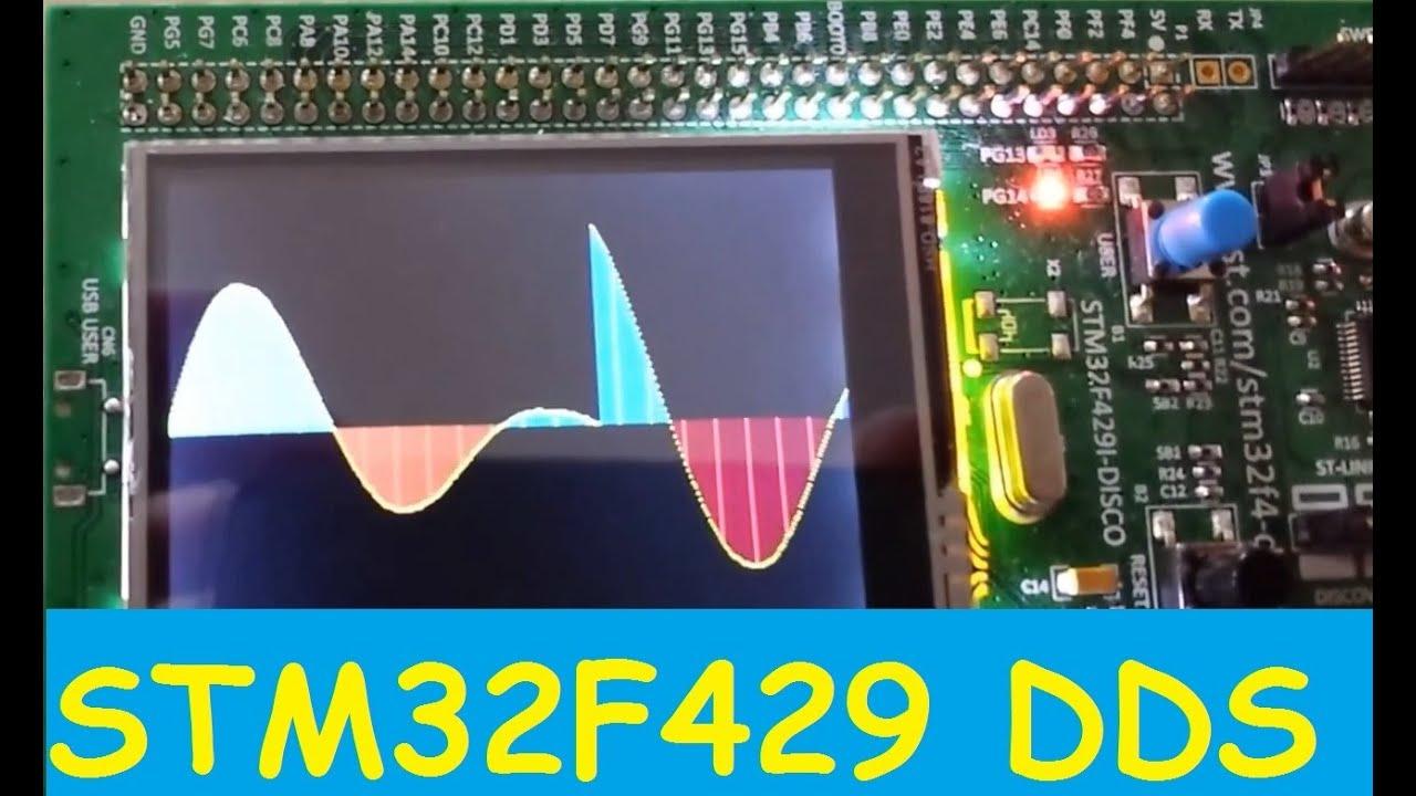 STM32F429 + SDRAM | DDS Signal Generator | DMA2D | LTDC Hardware | CooCox  CoIDE